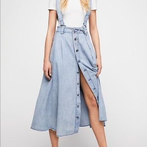 Free People suspenders skirt size extra small